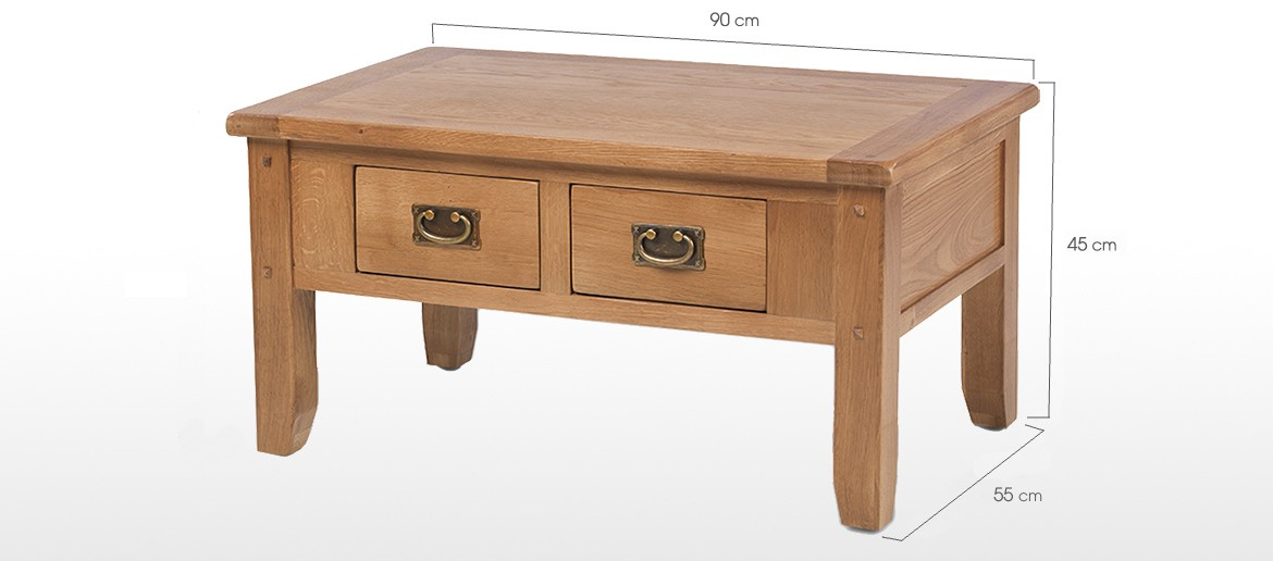 Rustic Oak Coffee Tables Rustic-oak-coffee-table-with