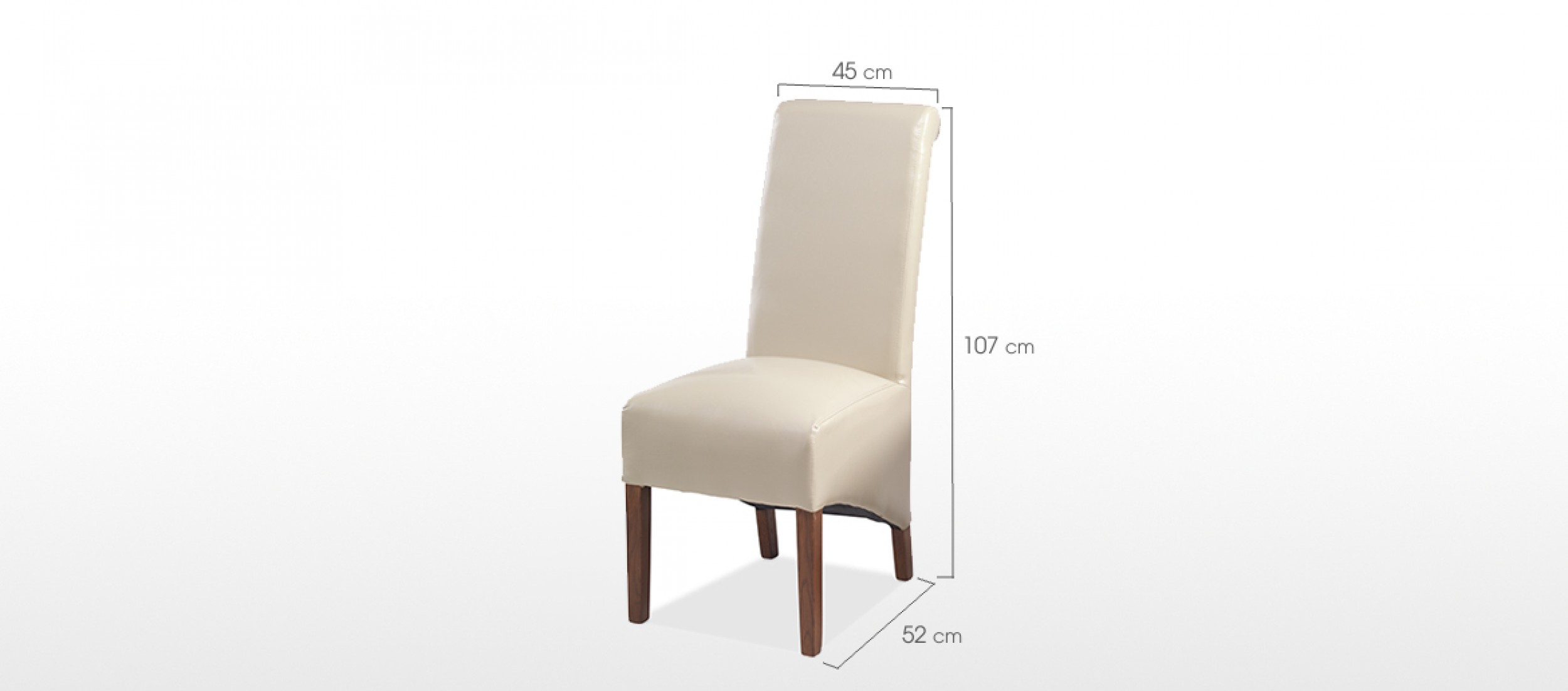 Cube Sheesham Bonded Leather Dining Chairs Beige Pair