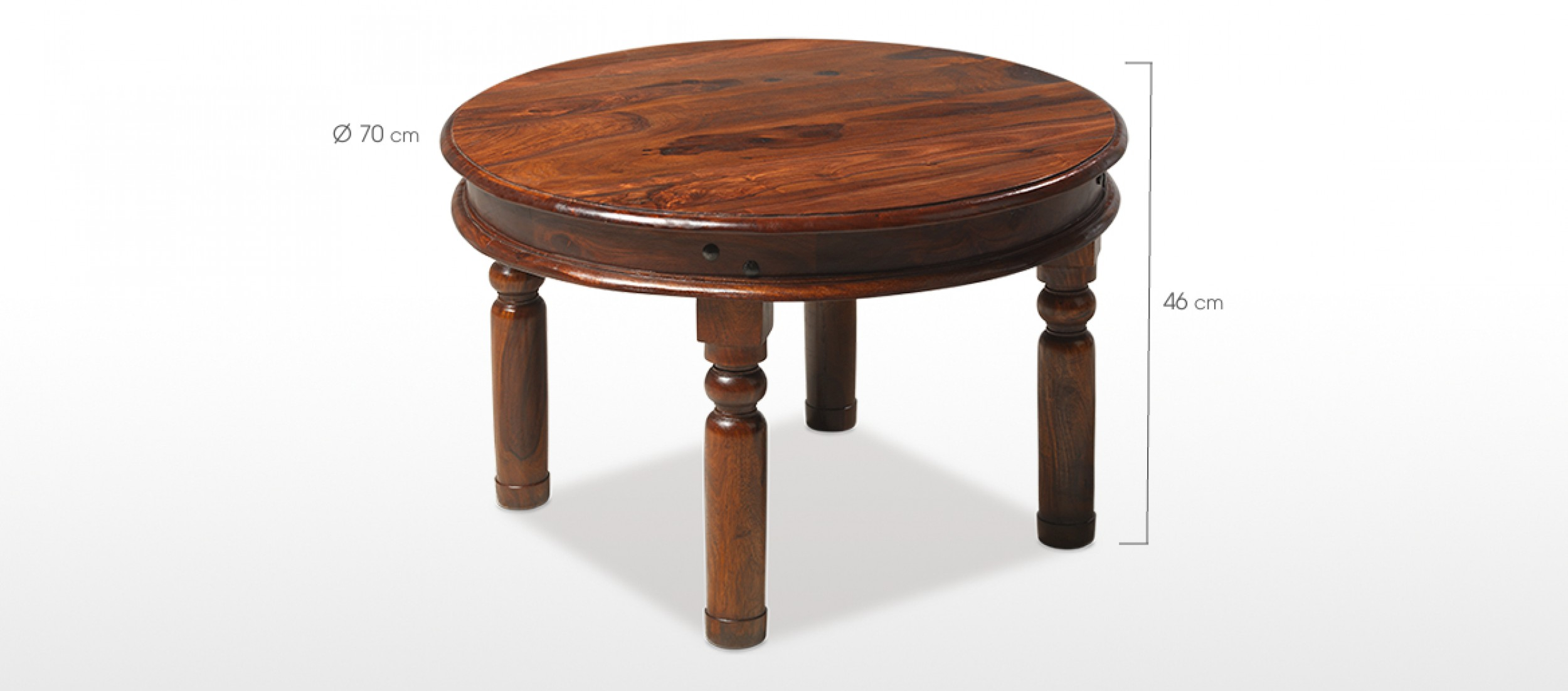 Jali Sheesham 70 Cm Round Thakat Coffee Table Quercus Living