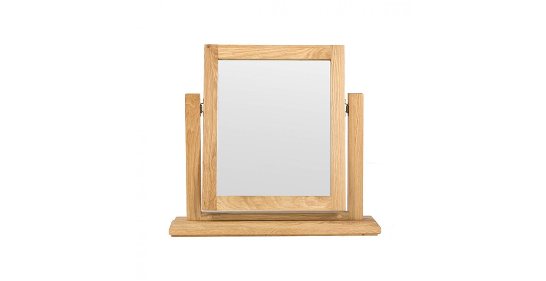 Breton oak dressing table vanity mirror lifestyle for Vanity dressing table with mirror