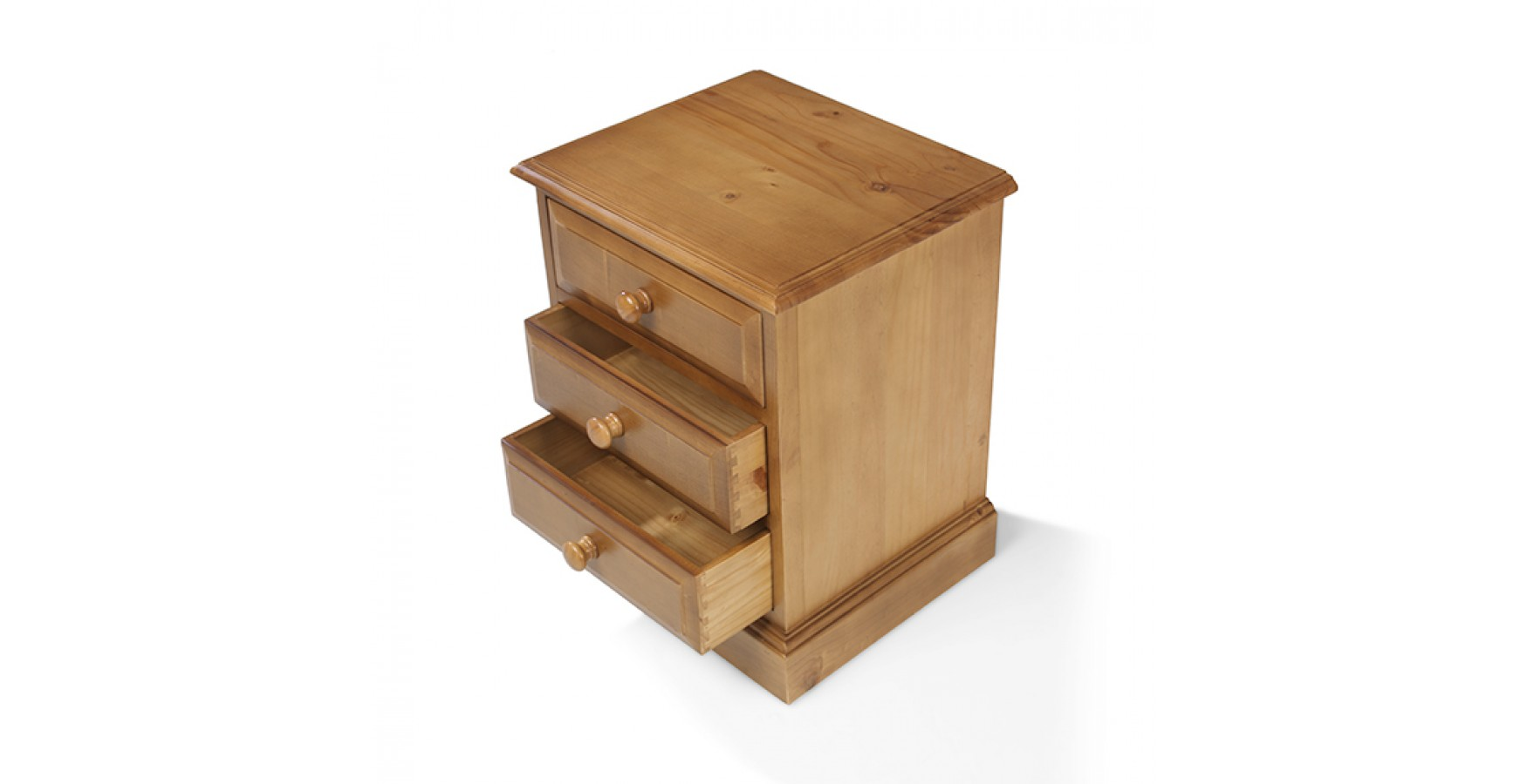 Country Pine 3 Drawer Bedside Cabinet Lifestyle Furniture Uk