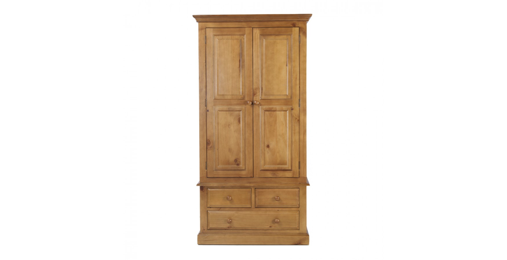 Country Pine Gents Double Wardrobe Lifestyle Furniture Uk