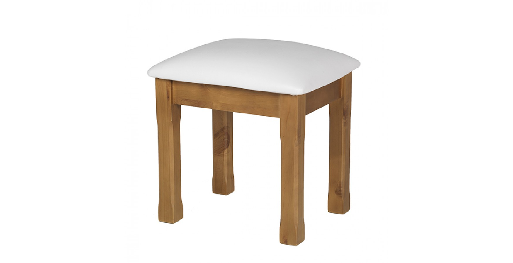 Country pine dressing table stool lifestyle furniture uk - Stool for vanity table ...