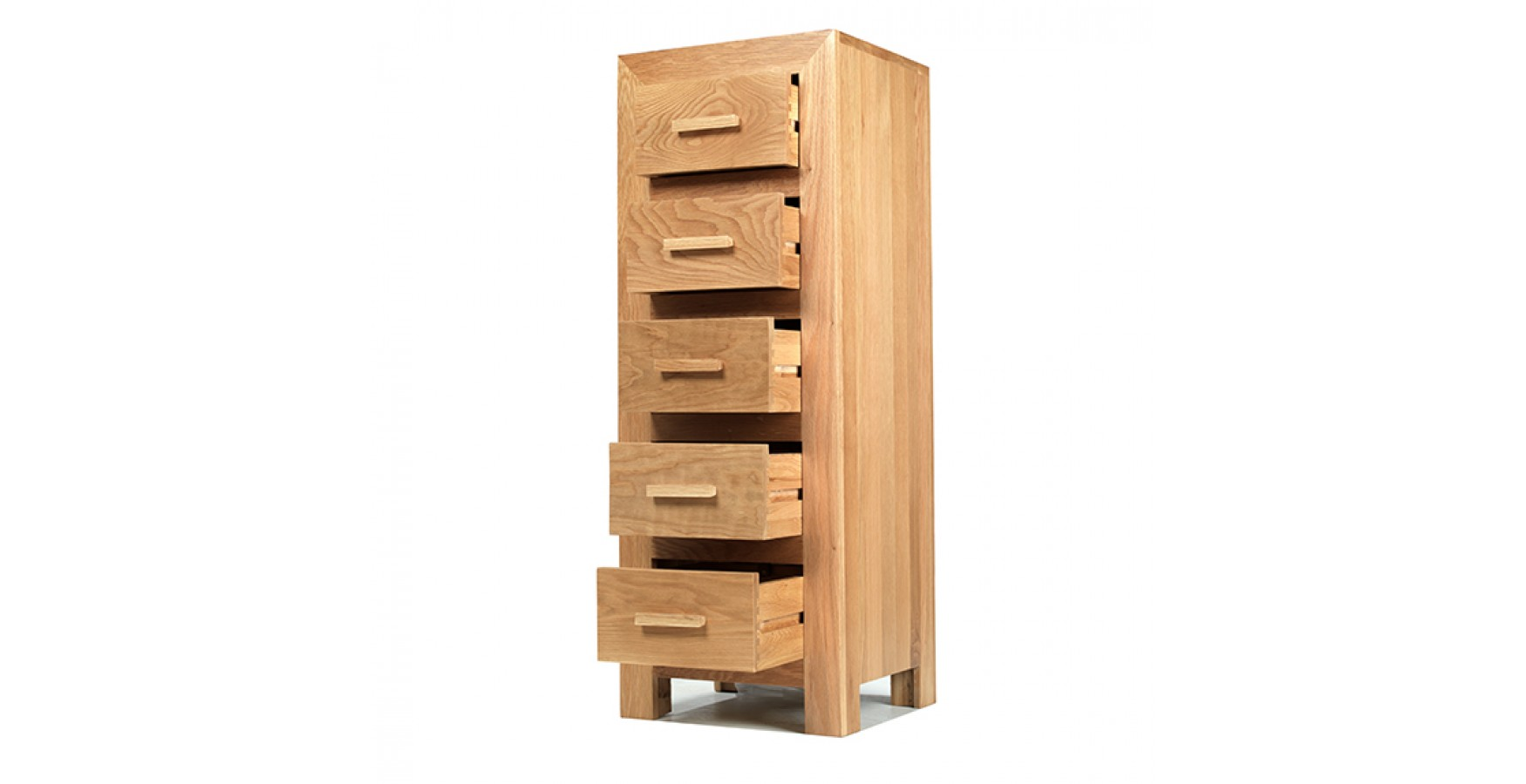 Cuba Oak 5 Drawer Tall Chest Of Drawers Lifestyle