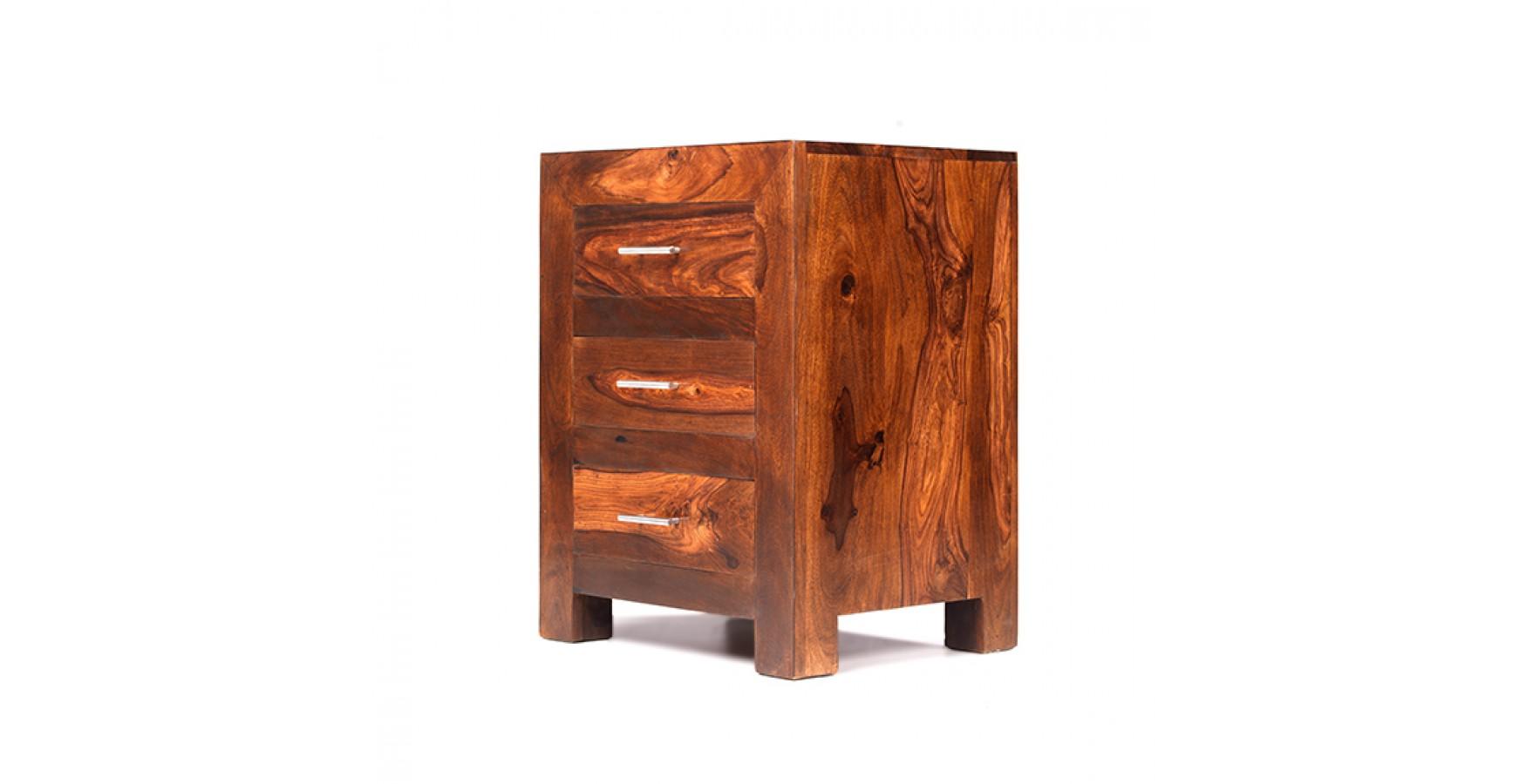 Cuba Sheesham 3 Drawer Bedside Cabinet Lifestyle Furniture Uk