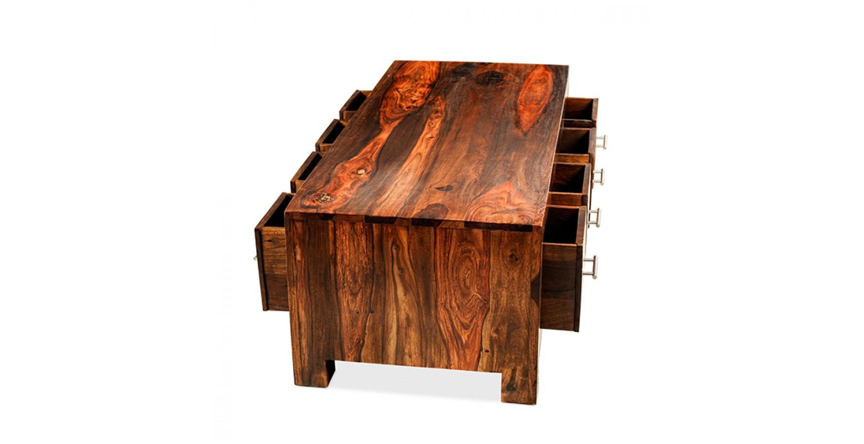 cuba sheesham 8 drawer coffee trunk - lifestyle furniture uk