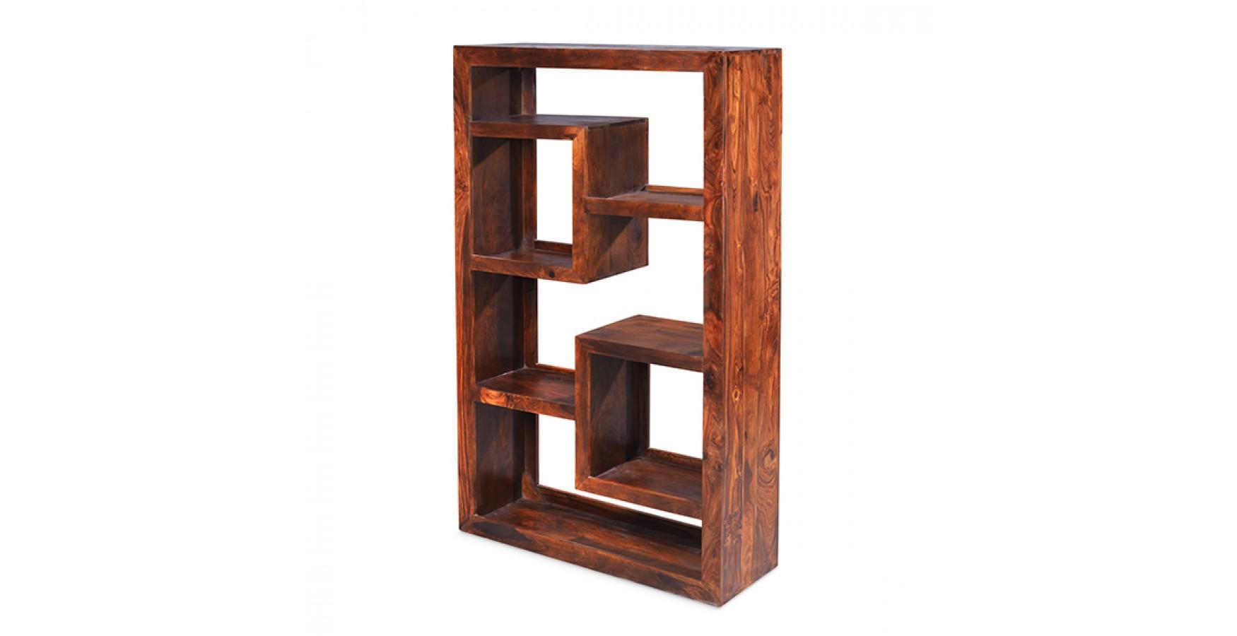 Cuba Sheesham Geometric Bookcase - Lifestyle Furniture UK