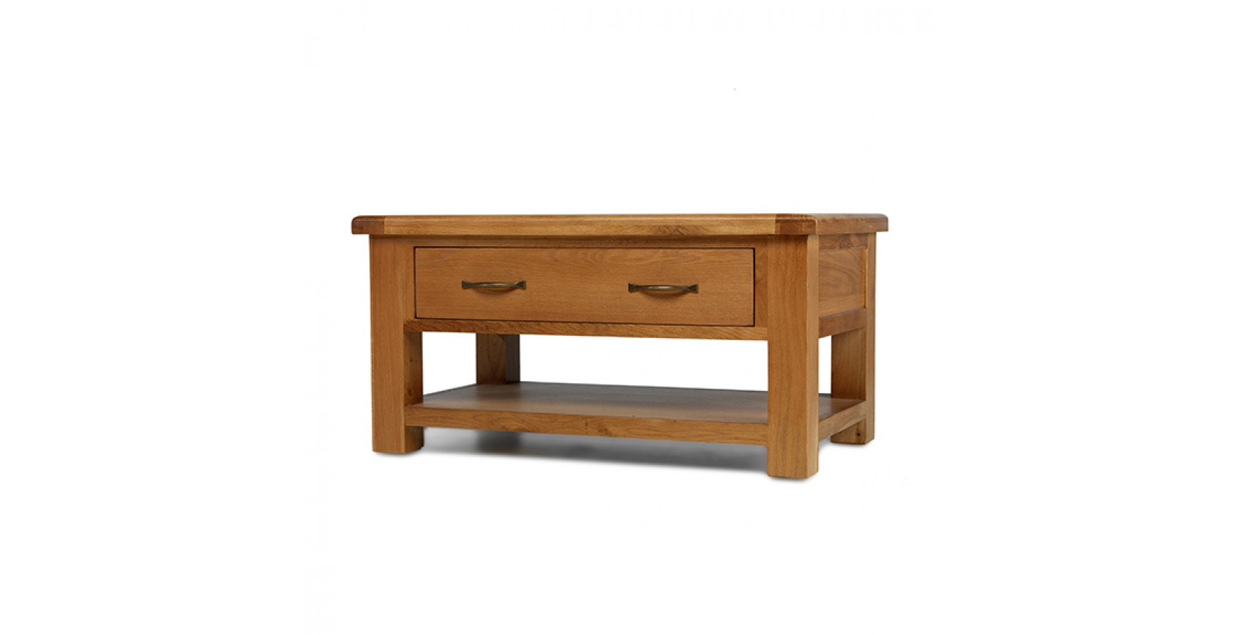 Emsworth Oak Coffee Table With 2 Drawers Lifestyle