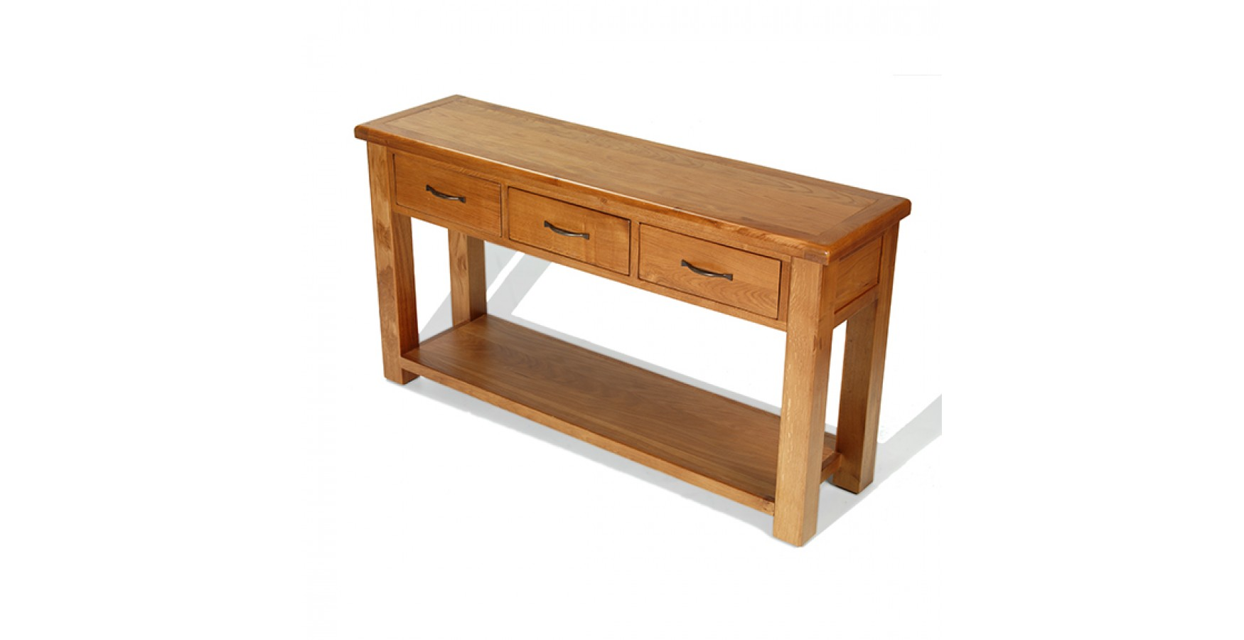 Emsworth Oak Large Console Table Lifestyle Furniture UK. Full resolution‎  photograph, nominally Width 1750 Height 900 pixels, photograph with #492310.