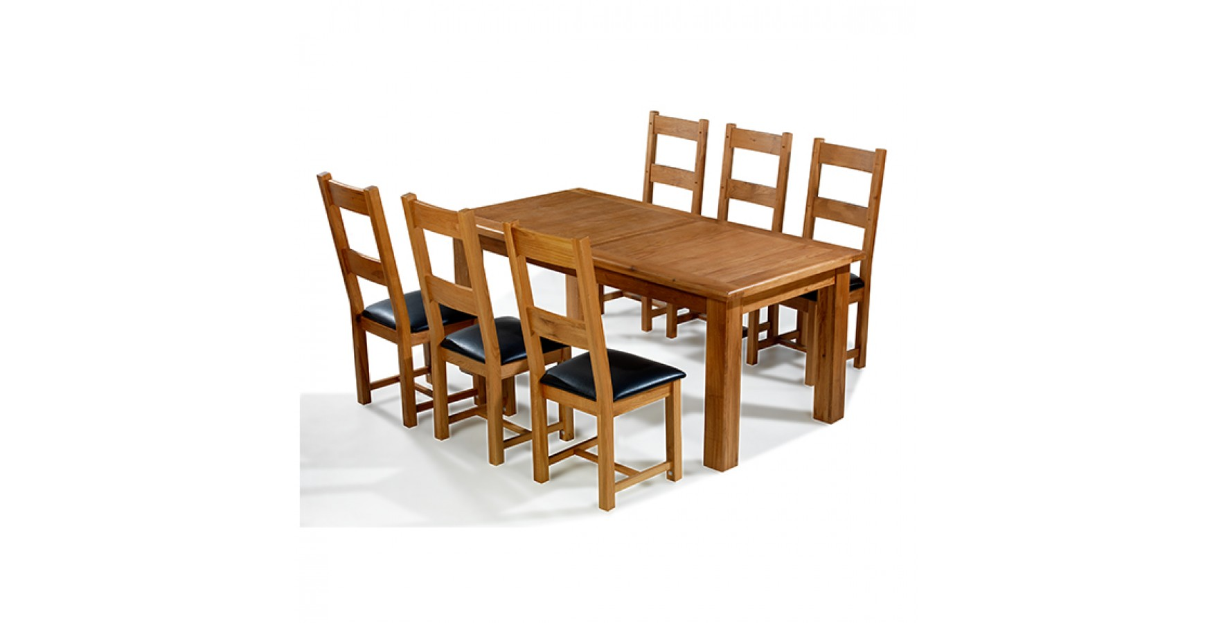 Emsworth Oak 180 250 Cm Extending Dining Table And 6 Chairs
