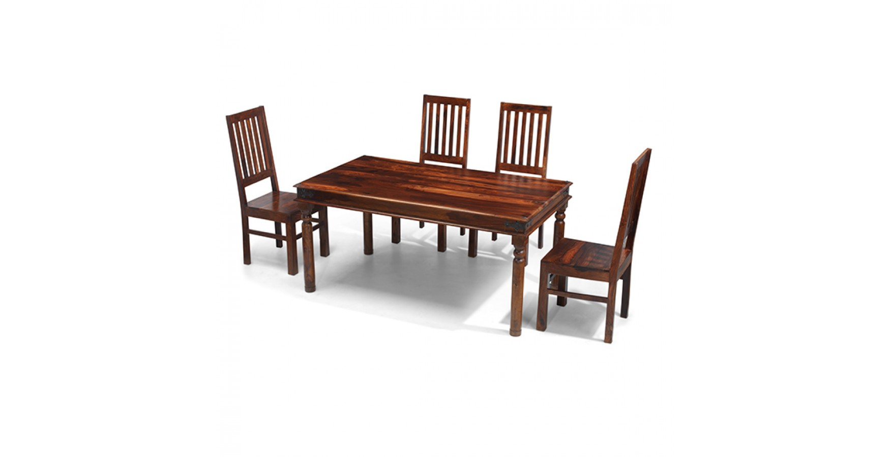 Jali Sheesham 160 cm Thakat Dining Table and 4 Chairs - Lifestyle ...