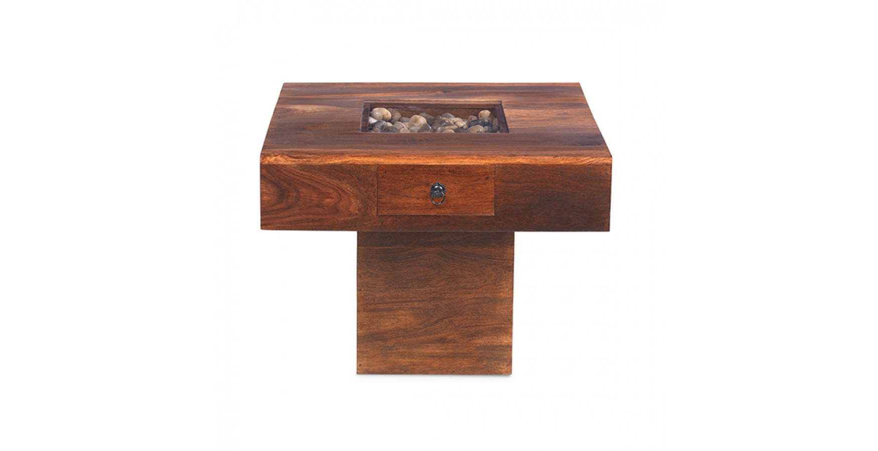 Jali Sheesham Small Pebble Coffee Table Lifestyle Furniture Uk