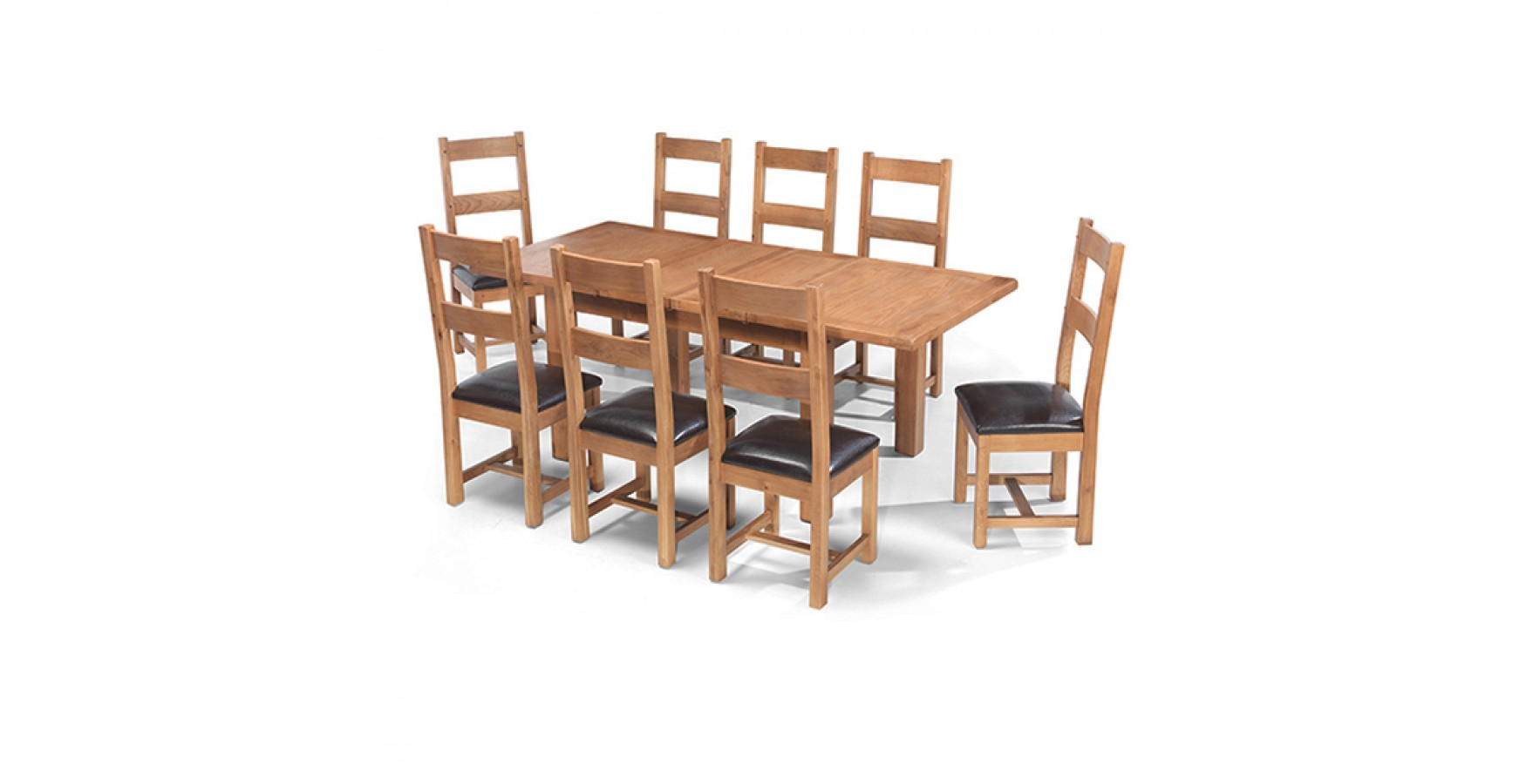 Rustic Oak 132-198 cm Extending Dining Table and 8 Chairs  sc 1 st  Lifestyle Furniture & Rustic Oak 132-198 cm Extending Dining Table and 8 Chairs ...