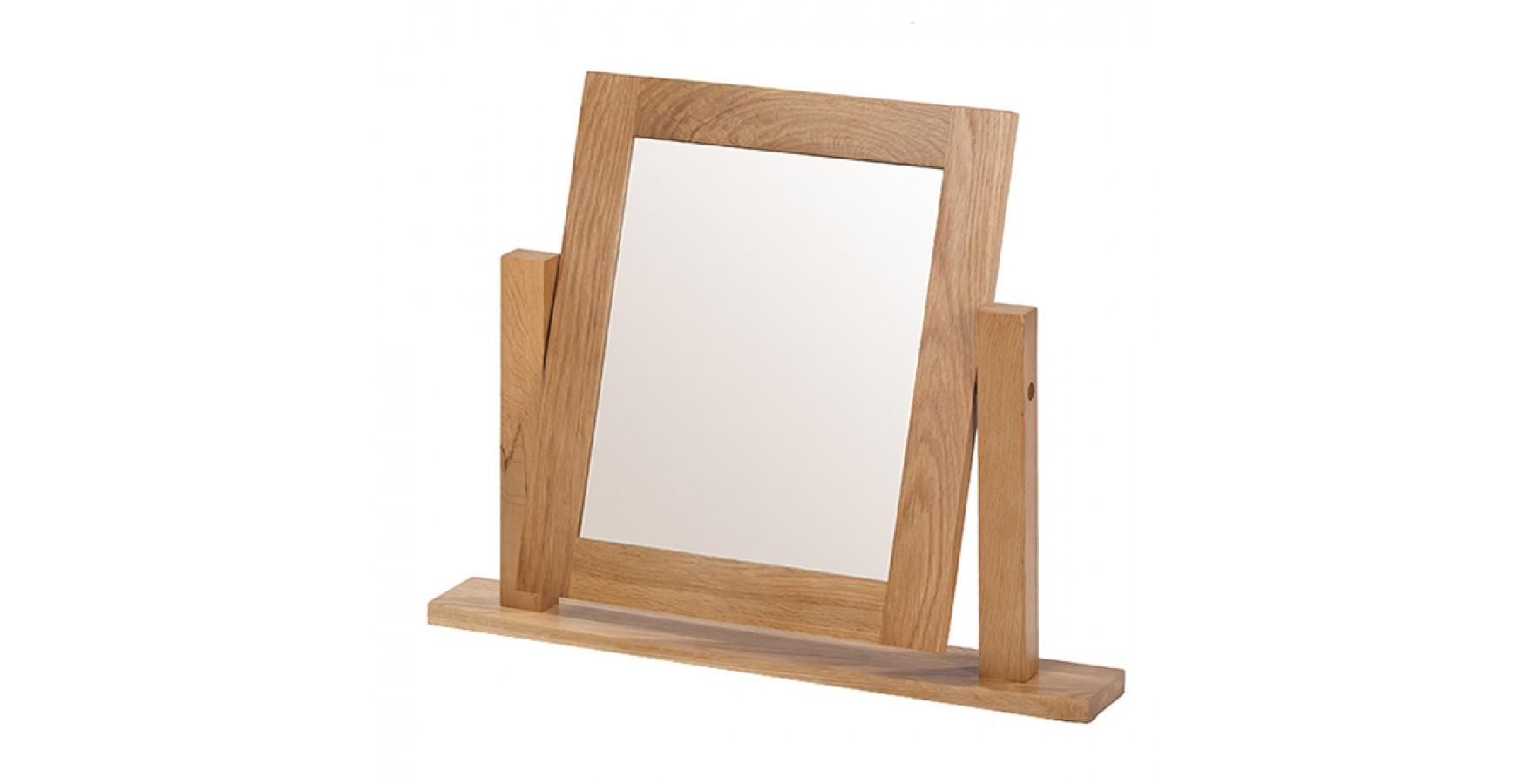 Rustic oak dressing table vanity mirror lifestyle for Vanity dressing table with mirror