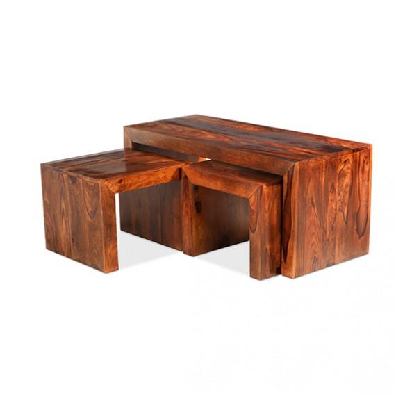 Cuba Sheesham Long John Coffee Table Lifestyle Furniture Uk