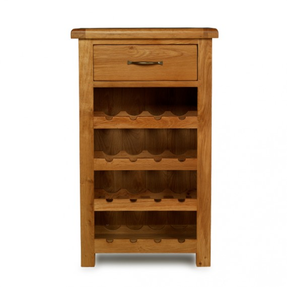 Emsworth Oak Small Wine Rack Lifestyle Furniture Uk