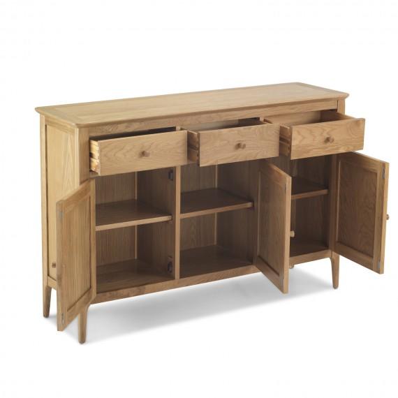 Enfield Oak Large Sideboard 3 Door 3 Drawers Lifestyle Furniture Uk