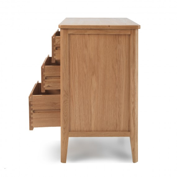 Cadley Oak Small Sideboard With Drawers Lifestyle Furniture Uk