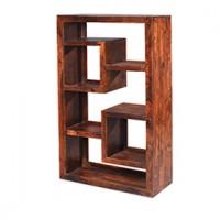 Cuba Sheesham Geometric Bookcase