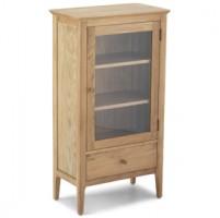 Enfield Oak Glazed Bookcase