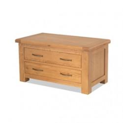 Kingham Oak Blanket Box with Drawers