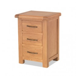 Kingham Oak Large 3 Drawer Bedside