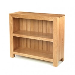 Cuba Oak Low Bookcase