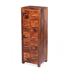 Cuba Sheesham 10 Drawer CD Almirah