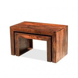 Cuba Sheesham Nest of 2 Tables