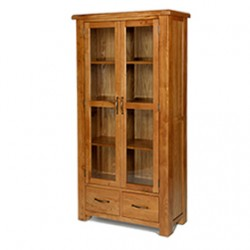 Emsworth Oak Glazed Display Cabinet
