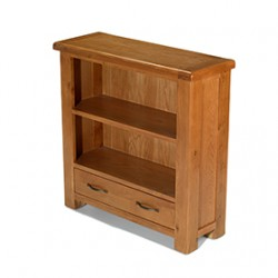 Emsworth Oak Low Bookcase with Drawer