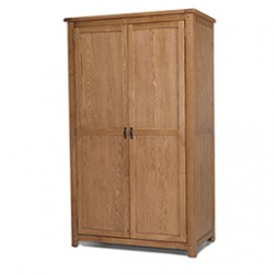 Rustic Oak Full Hanging Double Wardrobe
