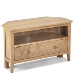 Corner tv cabinets unit in oak sheesham lifestyle for B q living room units