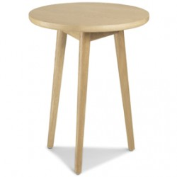 Skioa Oak Circular Lamp Table