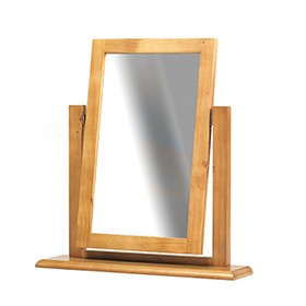 Chunky Pine Dressing Table Vanity Mirror