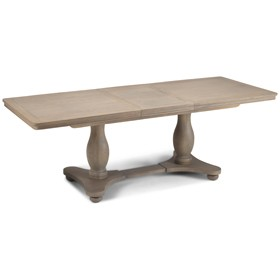 Loraine Oak Living & Dining Pedestal Ext  Dining Table  1800/2300