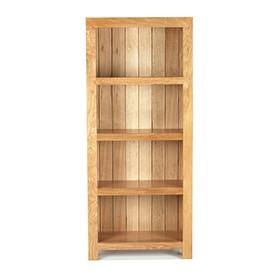 Cuba Oak Solid Bookcase