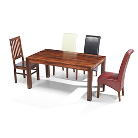 Cuba Sheesham 160 cm Dining Table and 4 Chairs