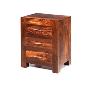 Cuba Sheesham 3 Drawer Bedside Cabinet