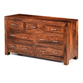 Cuba Sheesham 7 Drawer Chest of Drawers