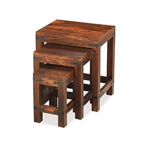 Jali Sheesham Nest of 3 Tables