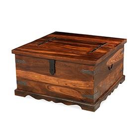 Jali Sheesham Square Coffee Trunk Box
