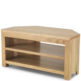 Cuba Oak Open Corner TV Unit