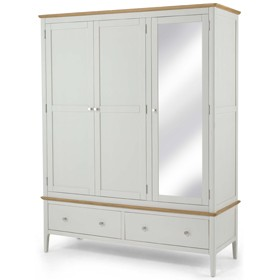 Mariah Painted Triple Wardrobe with Mirror