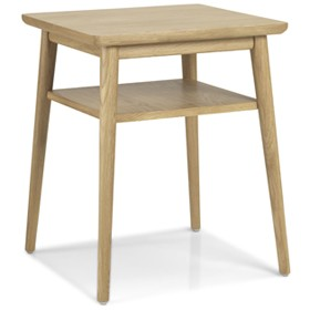 Skioa Oak Lamp Table With Shelve