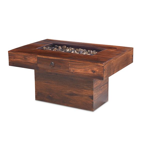 jali sheesham large pebble coffee table - lifestyle furniture uk