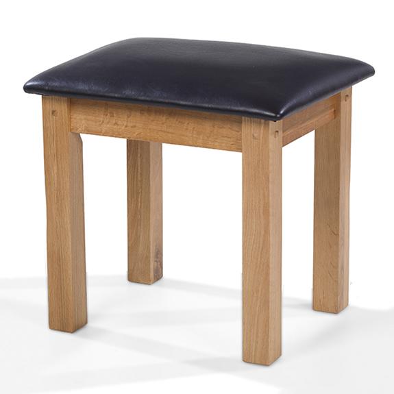 Rustic Oak Dressing Table Stool Lifestyle Furniture UK - Rustic oak dressing table