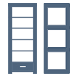 Bookcases Styles and finishes