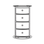 Round Chest of Drawers