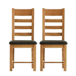 Wooden Dining Chairs with Padded Seats